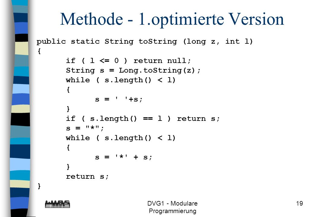 Methode - 1.optimierte Version