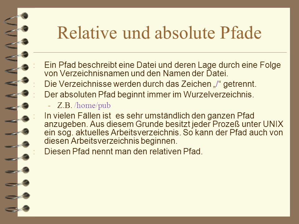 Relative und absolute Pfade
