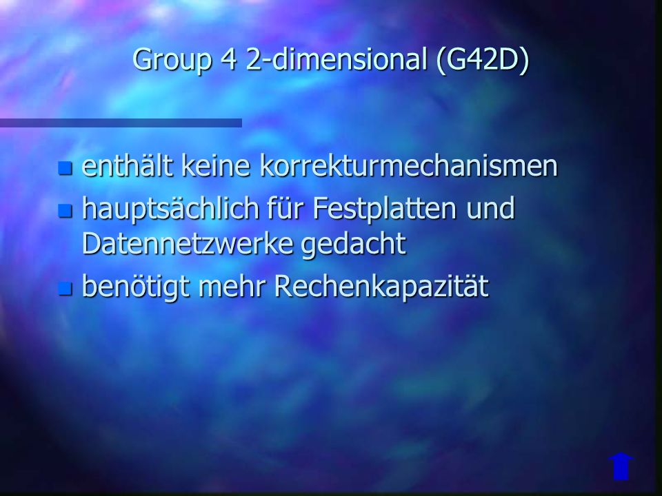 Group 4 2-dimensional (G42D)