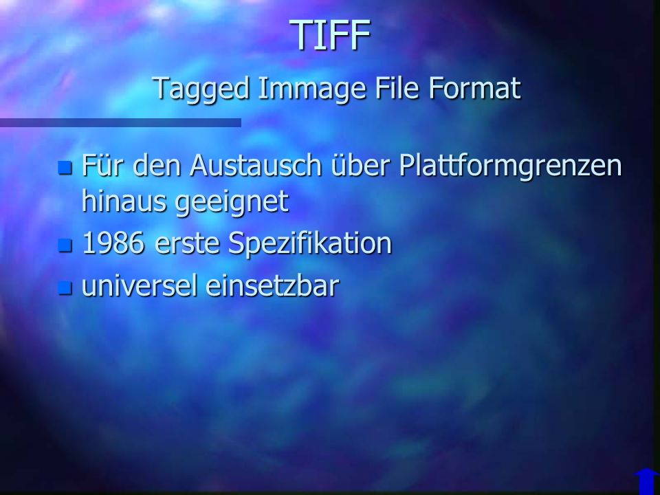 TIFF Tagged Immage File Format