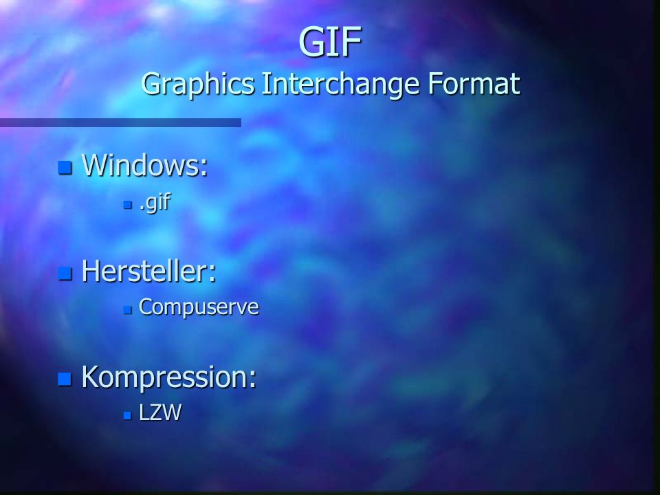 GIF Graphics Interchange Format