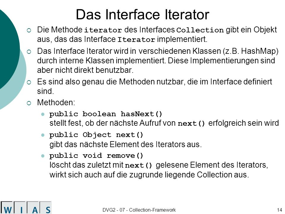 Das Interface Iterator