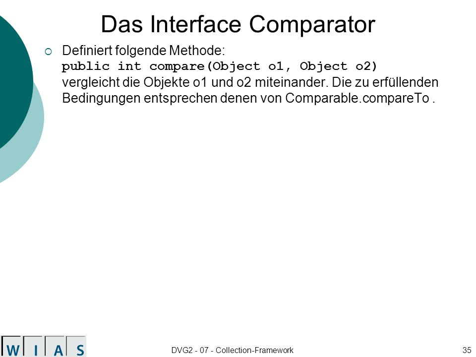 Das Interface Comparator