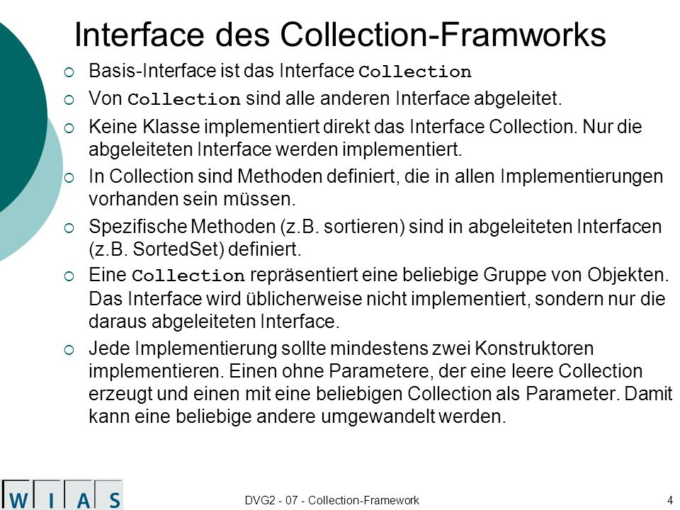 Interface des Collection-Framworks