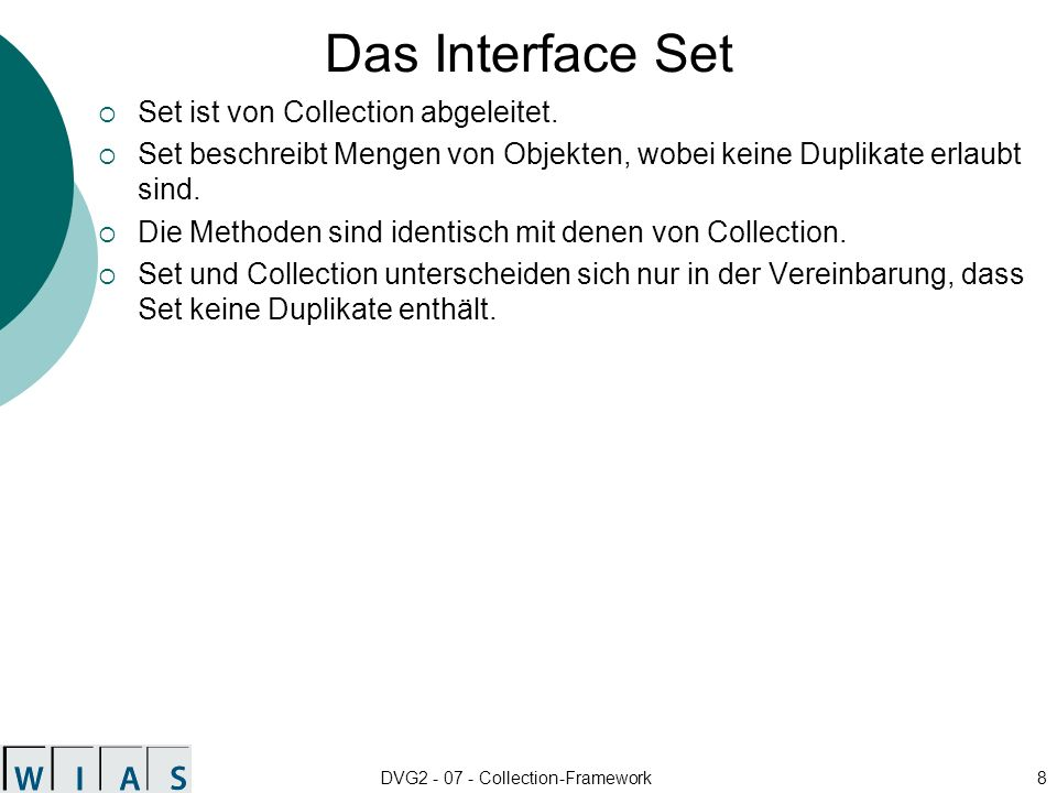 DVG2 - 07 - Collection-Framework