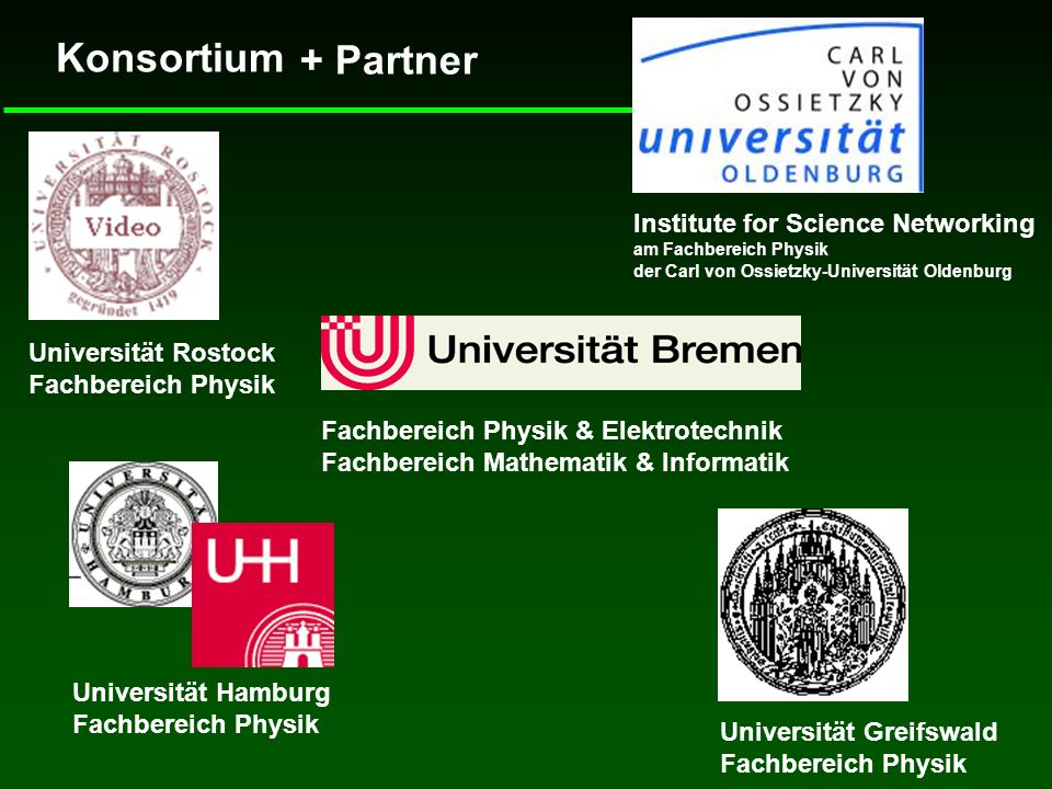 Konsortium + Partner Institute for Science Networking