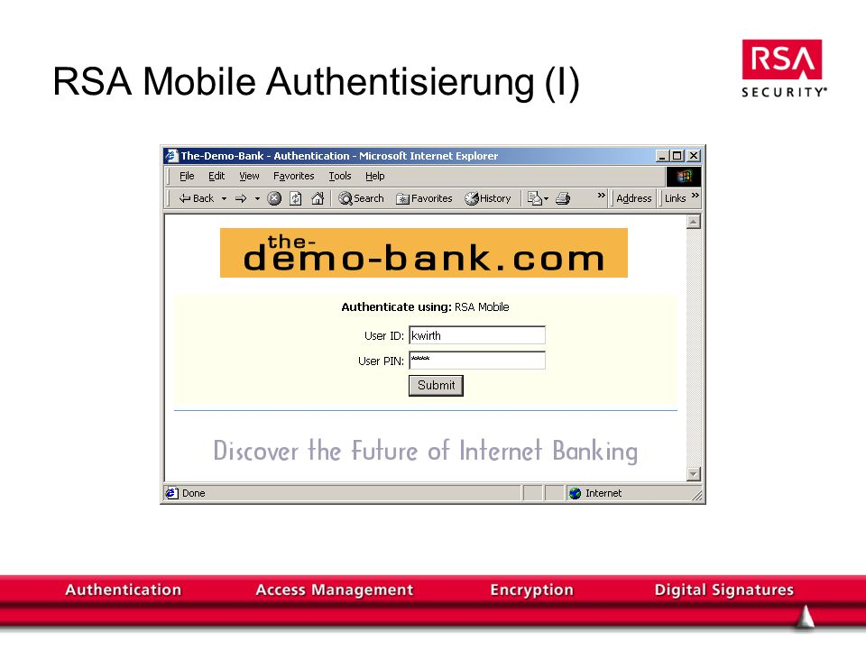 RSA Mobile Authentisierung (I)
