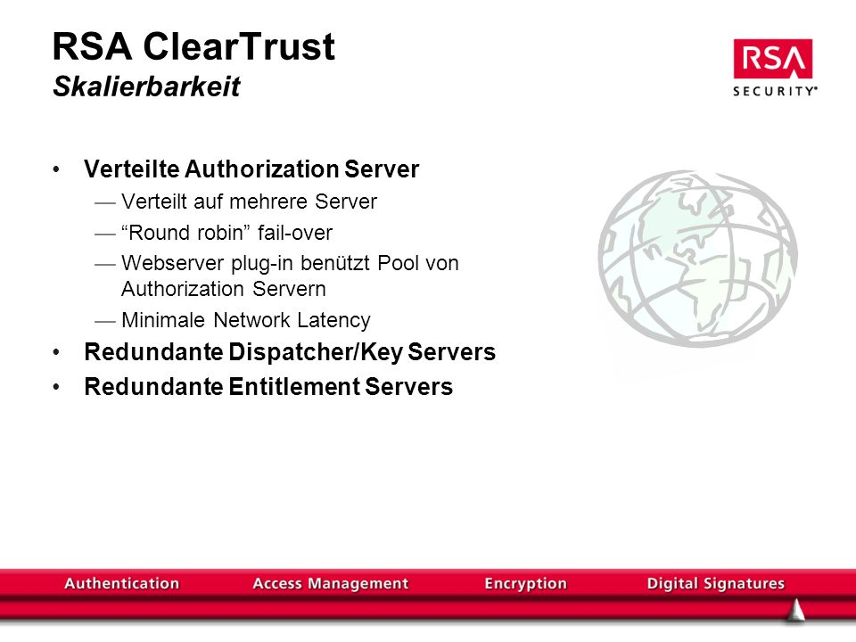 RSA ClearTrust Skalierbarkeit