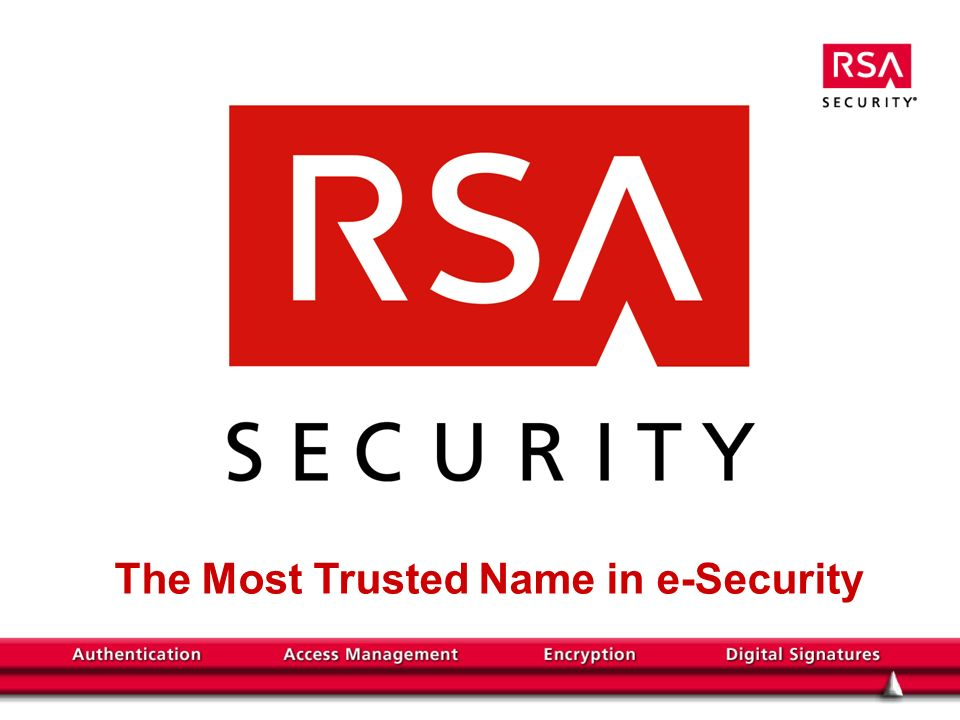 The Most Trusted Name in e-Security