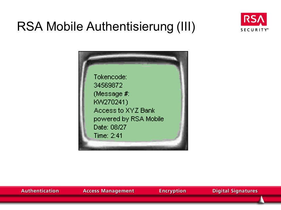 RSA Mobile Authentisierung (III)