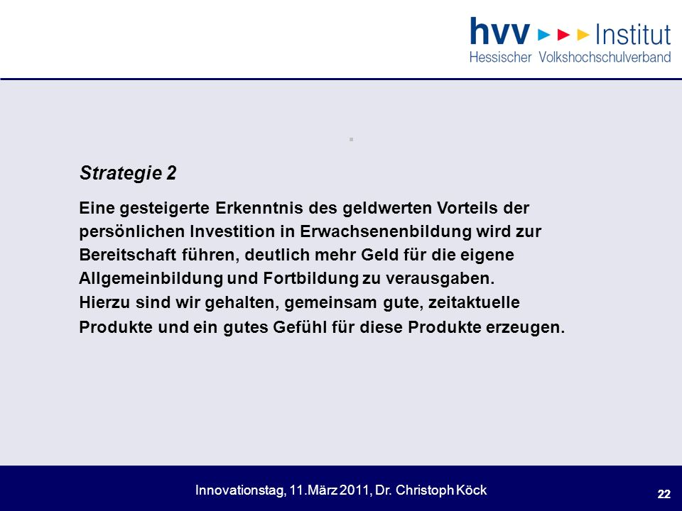 . Strategie 2.