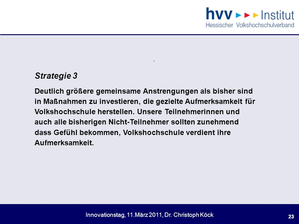 . Strategie 3.