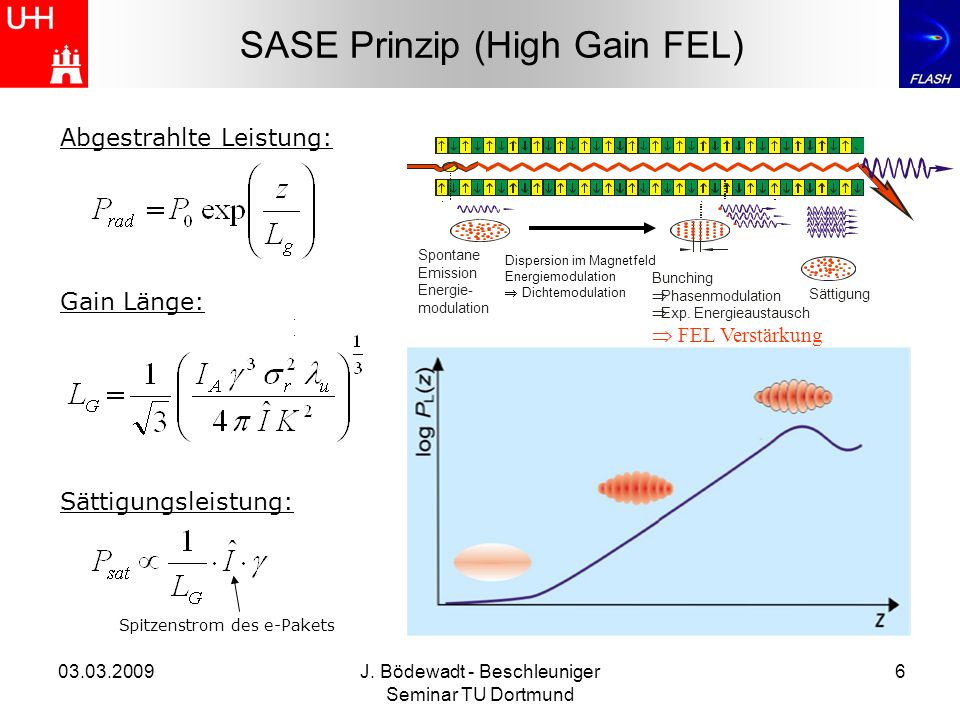 SASE Prinzip (High Gain FEL)