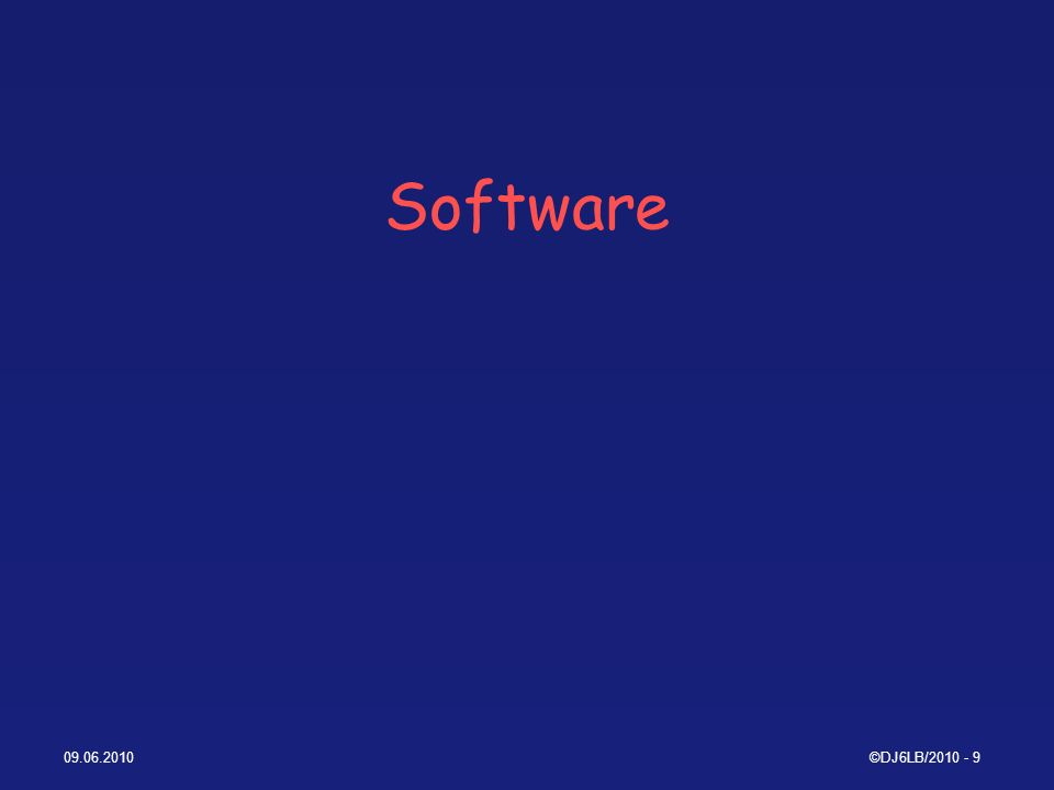 Software ©DJ6LB/