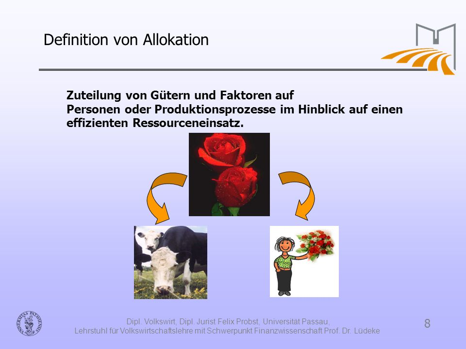 Definition von Allokation