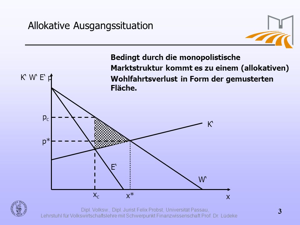 Allokative Ausgangssituation