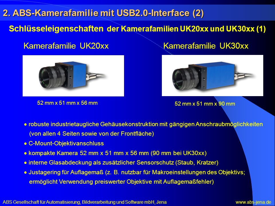 2. ABS-Kamerafamilie mit USB2.0-Interface (2)