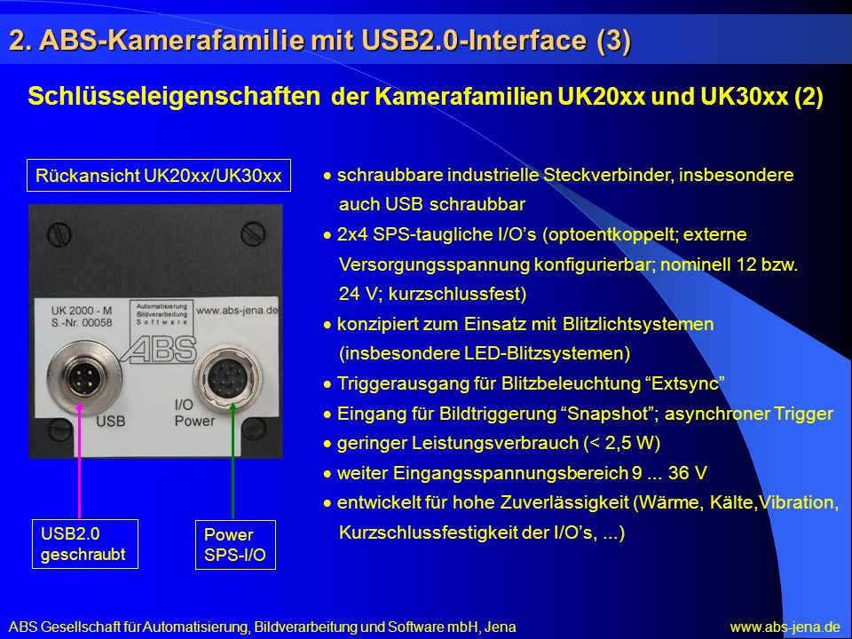 2. ABS-Kamerafamilie mit USB2.0-Interface (3)