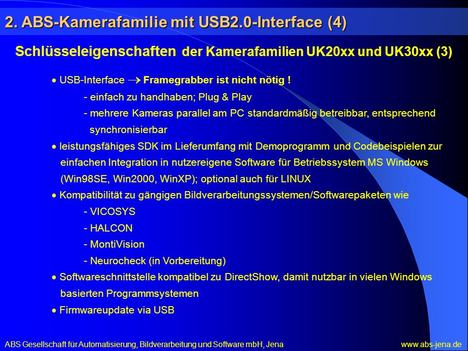 2. ABS-Kamerafamilie mit USB2.0-Interface (4)