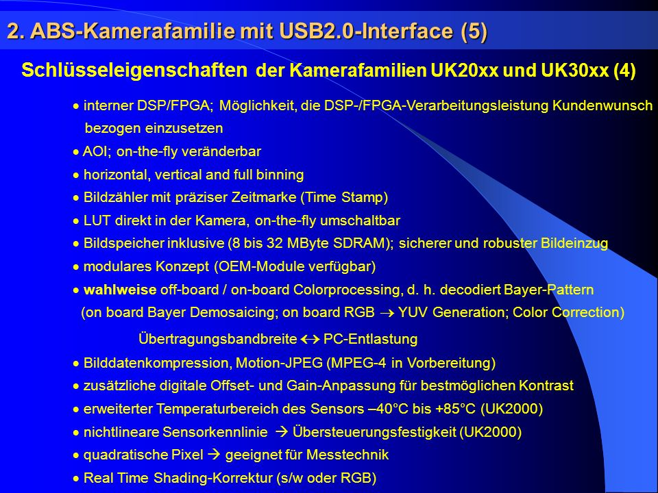 2. ABS-Kamerafamilie mit USB2.0-Interface (5)