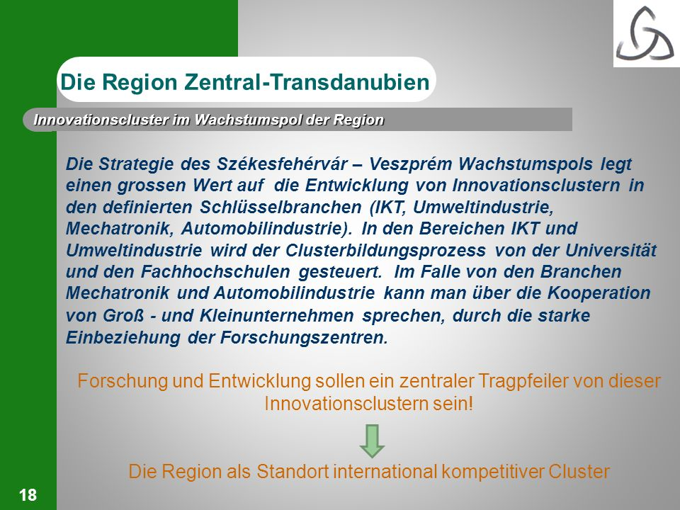 Die Region als Standort international kompetitiver Cluster