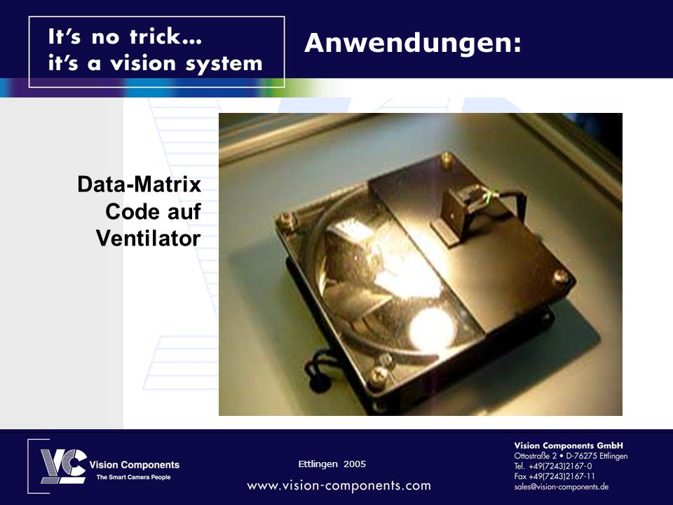 Data-Matrix Code auf Ventilator