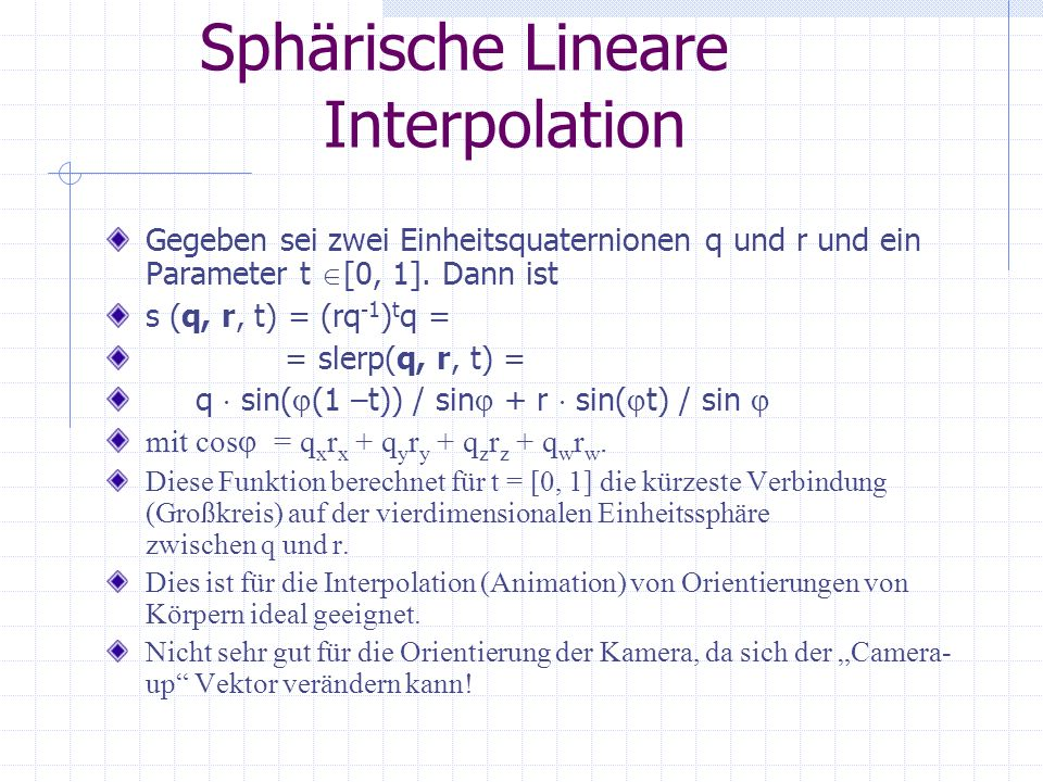 Sphärische Lineare Interpolation