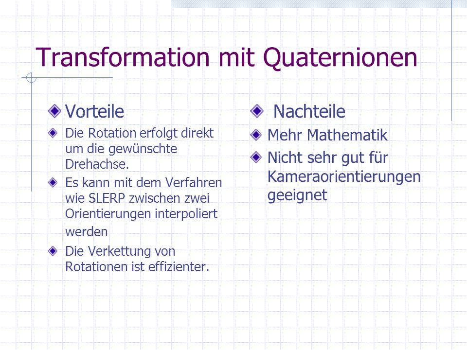 Transformation mit Quaternionen