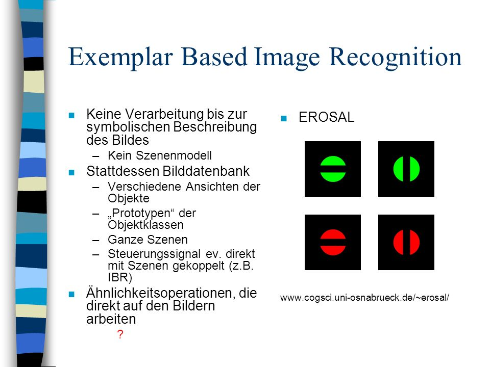 Exemplar Based Image Recognition
