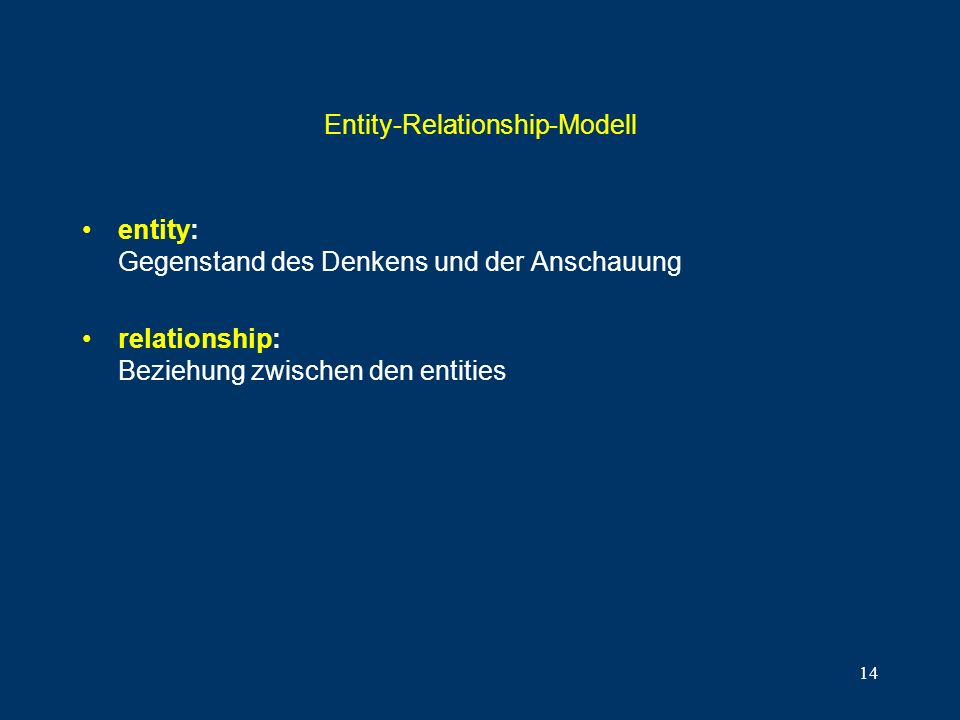 Entity-Relationship-Modell
