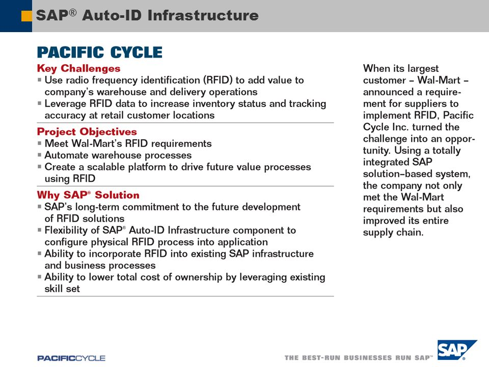 SAP® Auto-ID Infrastructure
