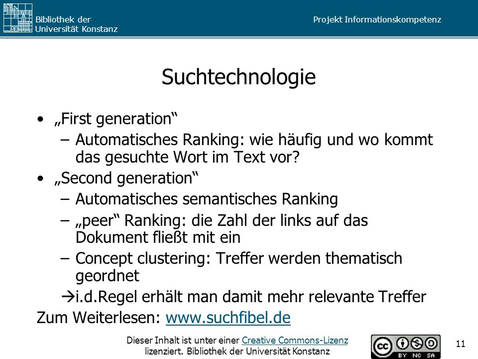 "Suchtechnologie ""First generation"