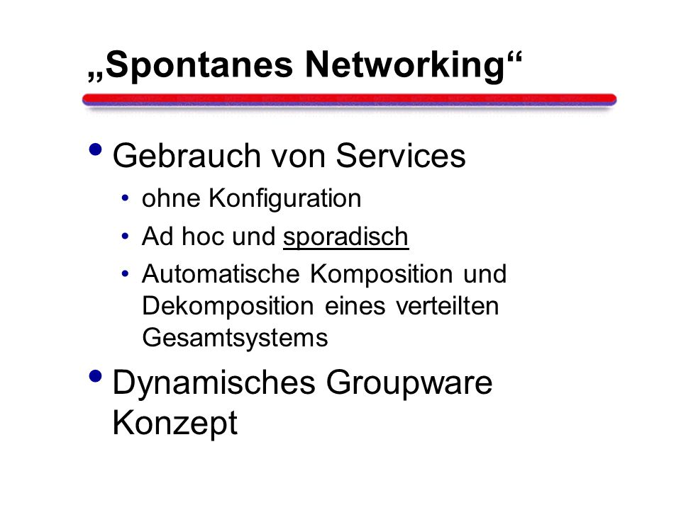 """Spontanes Networking"