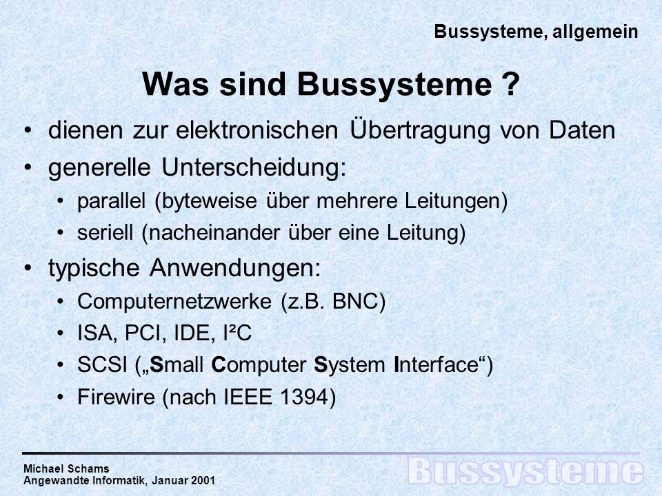 Rst Rechnerstrukturen Bussysteme An Beispielen Serial Ata Und