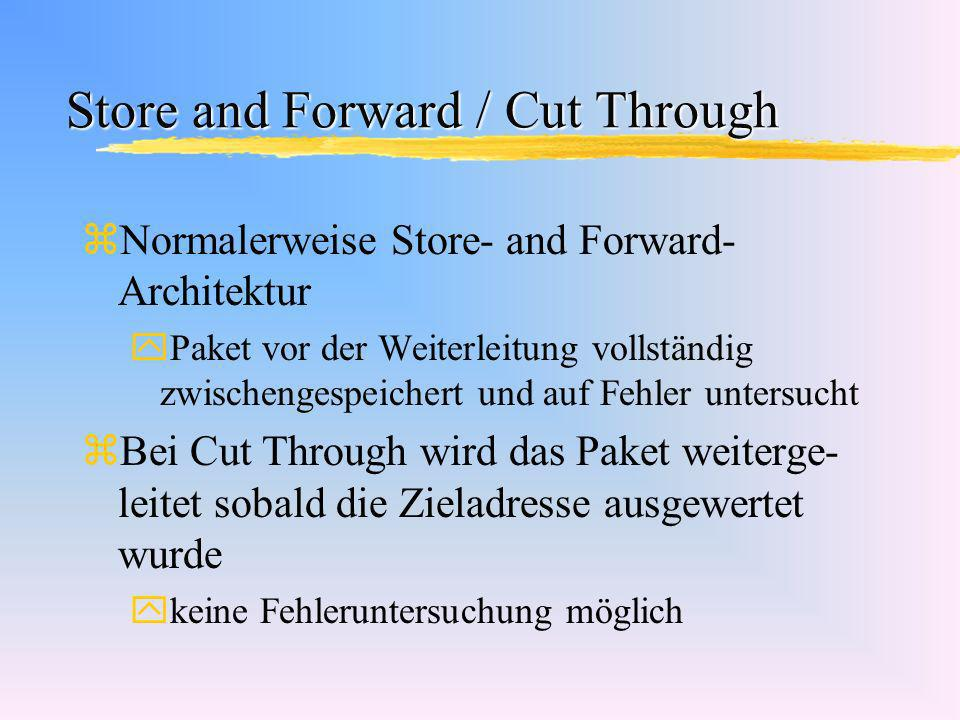Store and Forward / Cut Through