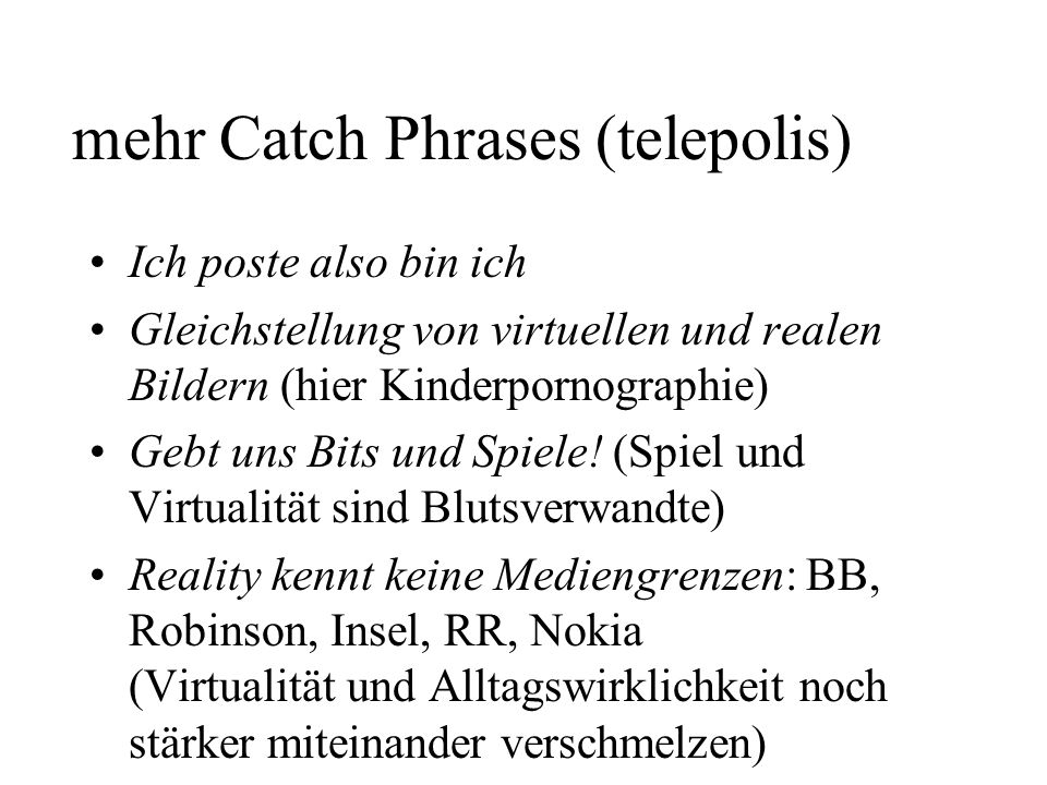 mehr Catch Phrases (telepolis)
