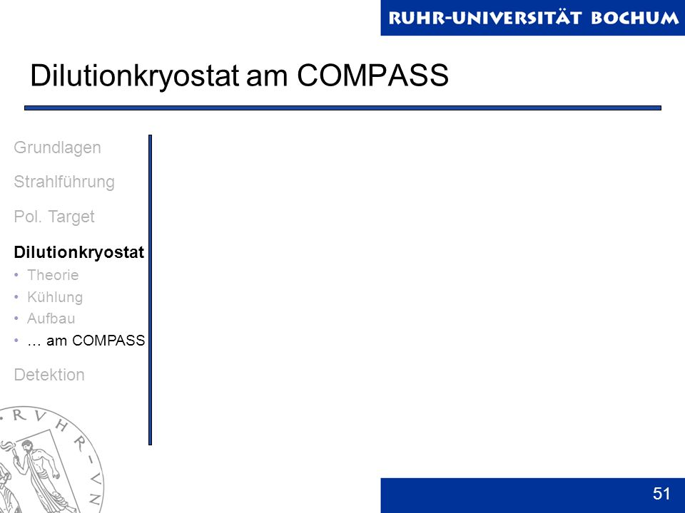 Dilutionkryostat am COMPASS