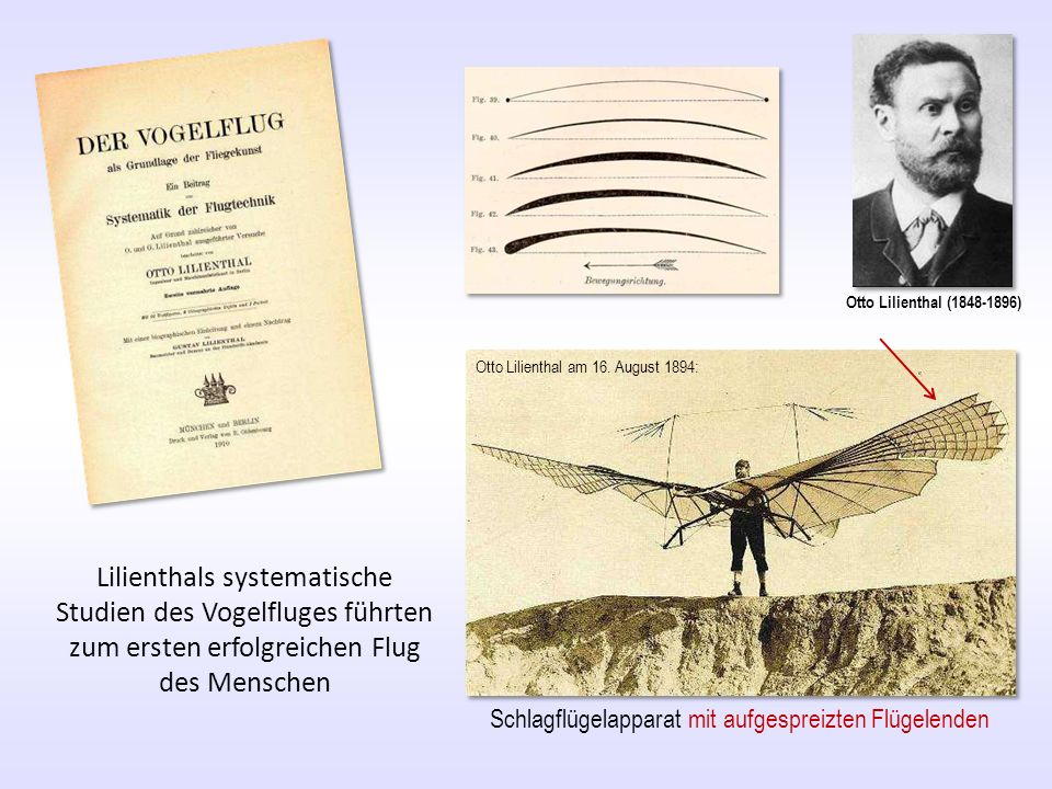 Otto Lilienthal ( ) Otto Lilienthal am 16. August 1894: