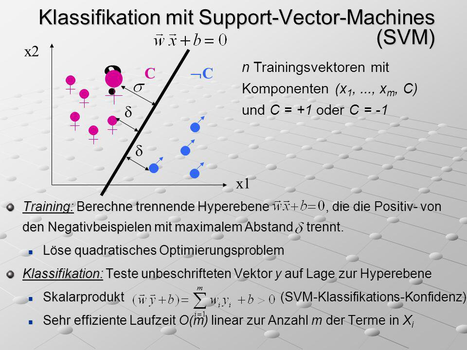 Klassifikation mit Support-Vector-Machines (SVM)