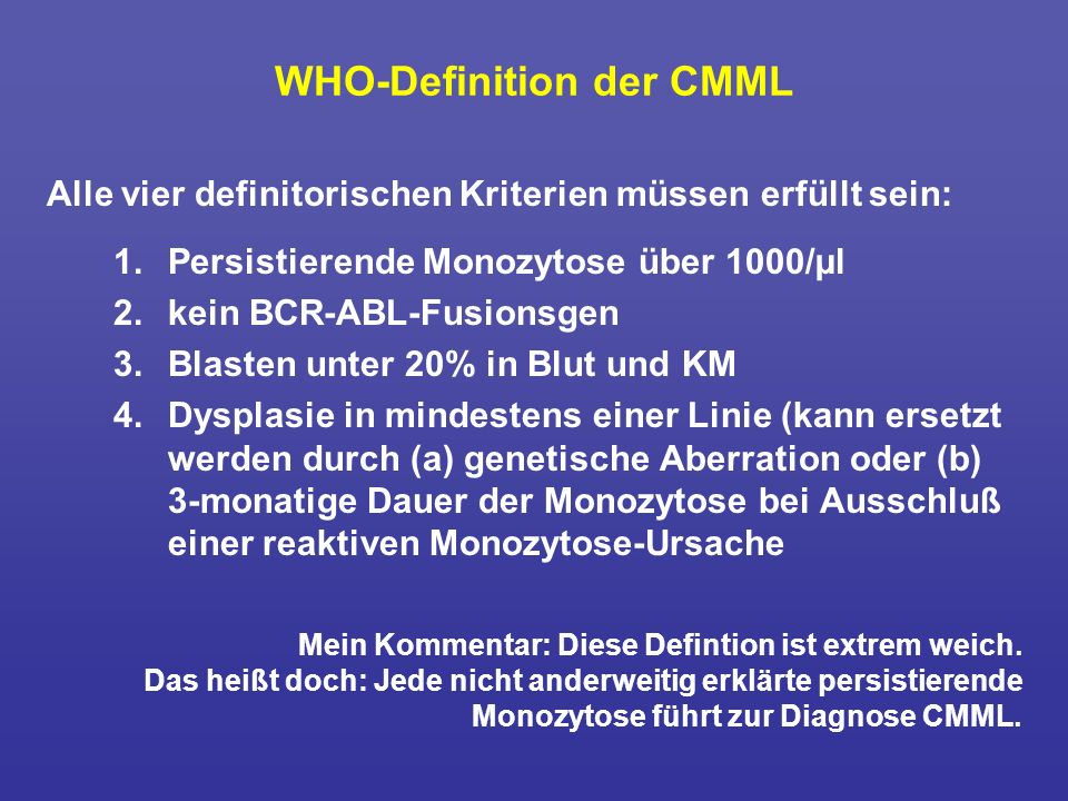 WHO-Definition der CMML