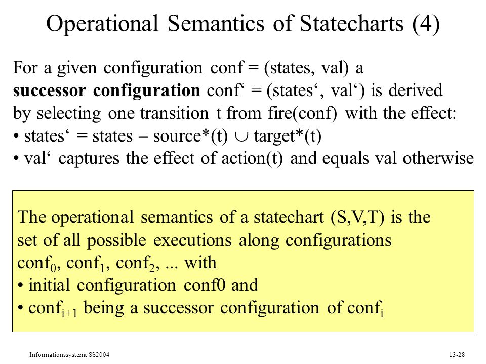 Operational Semantics of Statecharts (4)