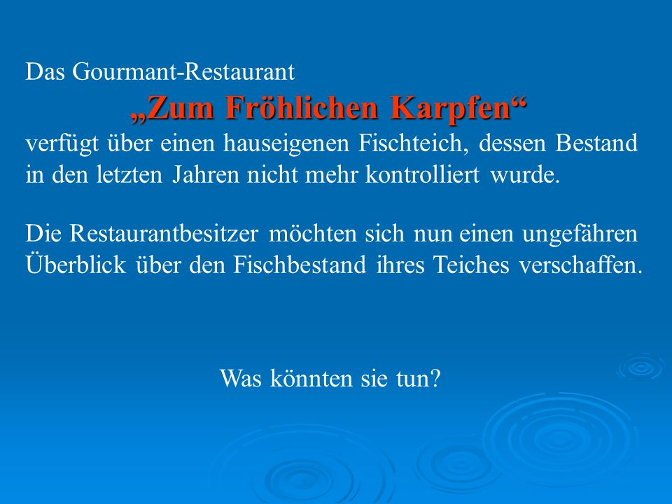 Das Gourmant-Restaurant