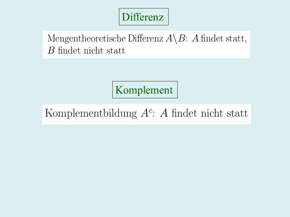 Differenz Komplement