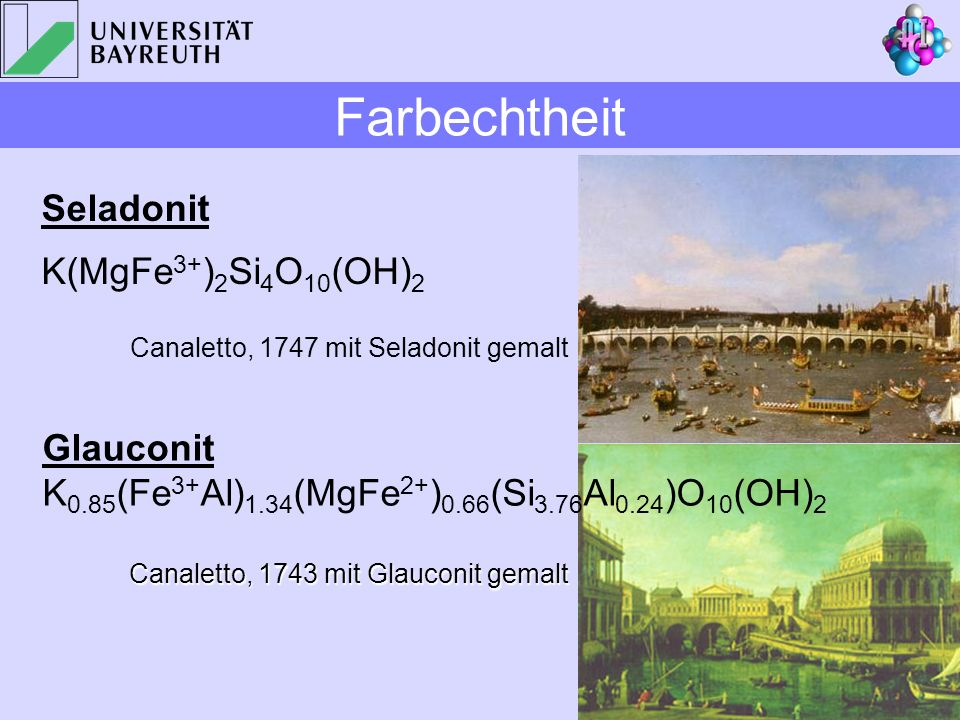 Farbechtheit Seladonit K(MgFe3+)2Si4O10(OH)2 Glauconit