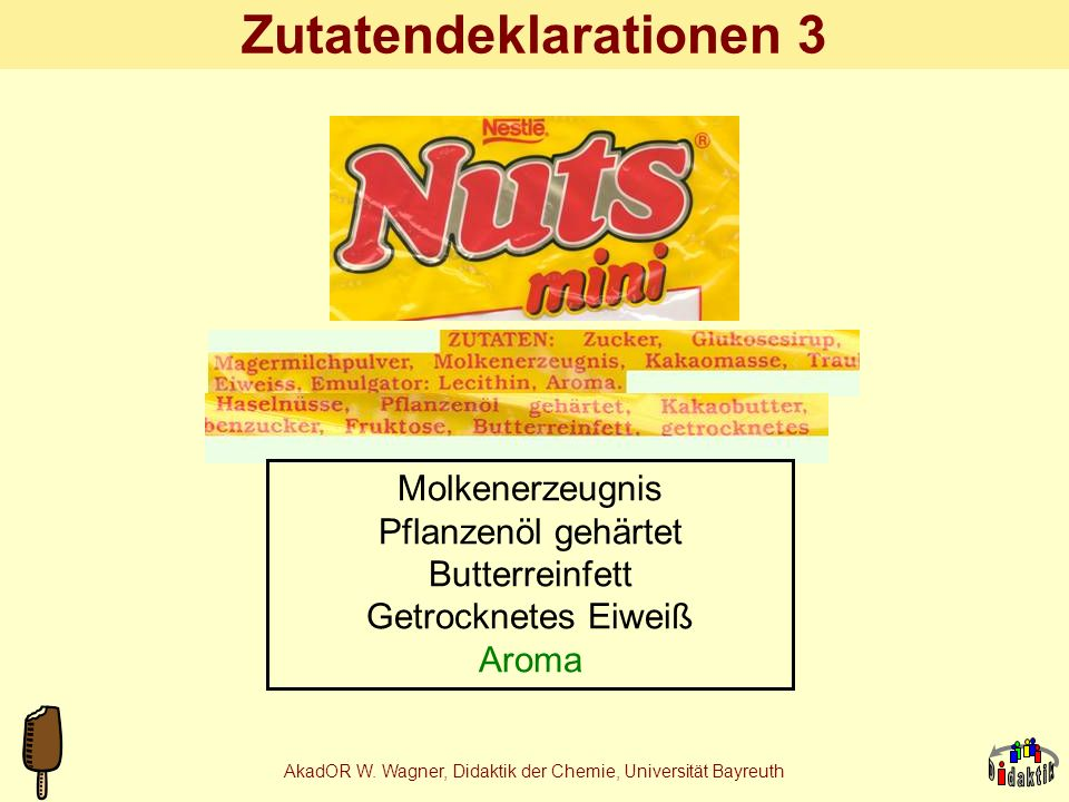 Zutatendeklarationen 3