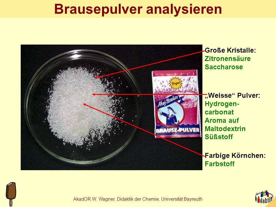 Brausepulver analysieren