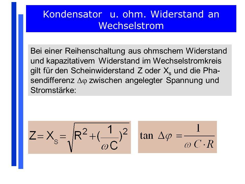 Kondensator u. ohm. Widerstand an Wechselstrom - ppt video online ...