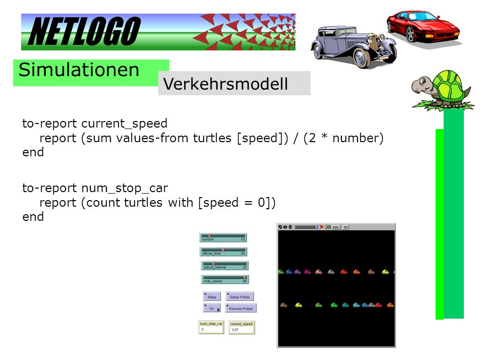 Simulationen Verkehrsmodell to-report current_speed