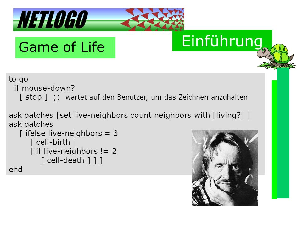 Einführung Game of Life to go if mouse-down