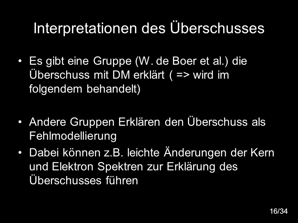 Interpretationen des Überschusses